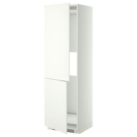 Высокий шкаф для холодильника или морозильник МЕТОД белый артикуль № 999.252.95 в наличии. Онлайн магазин ИКЕА Минск. Недорогая доставка и установка.