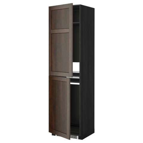 Высокий шкаф для холодильника или морозильника, МЕТОД черный артикуль № 499.260.04 в наличии. Online магазин IKEA Минск. Недорогая доставка и соборка.