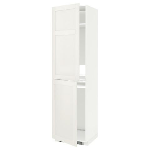 Высокий шкаф для холодильника или морозильника, МЕТОД белый артикуль № 890.641.83 в наличии. Онлайн магазин ИКЕА РБ. Недорогая доставка и монтаж.