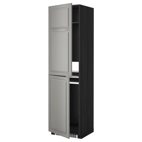 Высокий шкаф для холодильника или морозильника, МЕТОД черный артикуль № 899.256.58 в наличии. Онлайн магазин ИКЕА РБ. Быстрая доставка и монтаж.