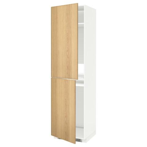 Высокий шкаф для холодильника или морозильника, МЕТОД белый артикуль № 990.533.01 в наличии. Интернет магазин IKEA Минск. Быстрая доставка и соборка.
