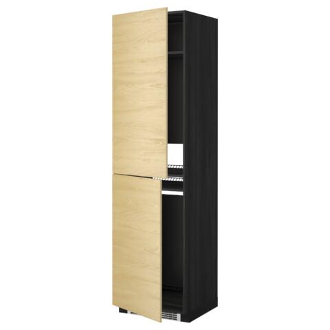 Высокий шкаф для холодильника или морозильника, МЕТОД черный артикуль № 999.250.21 в наличии. Онлайн сайт IKEA Минск. Быстрая доставка и соборка.