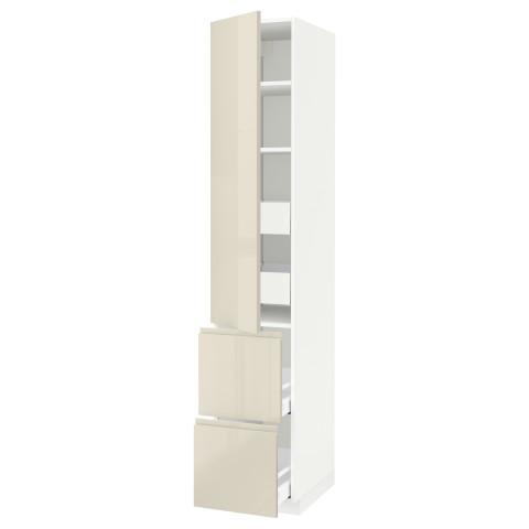 Высокий шкаф + полки, 4 ящика, 2 дверцы МЕТОД / МАКСИМЕРА белый артикуль № 391.723.64 в наличии. Онлайн магазин IKEA Республика Беларусь. Недорогая доставка и соборка.