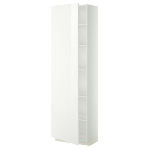 Высокий шкаф с полками МЕТОД белый артикуль № 399.212.24 в наличии. Онлайн магазин ИКЕА Минск. Недорогая доставка и соборка.