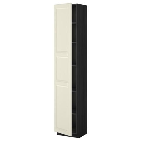 Высокий шкаф с полками МЕТОД черный артикуль № 499.222.42 в наличии. Онлайн сайт IKEA РБ. Быстрая доставка и соборка.