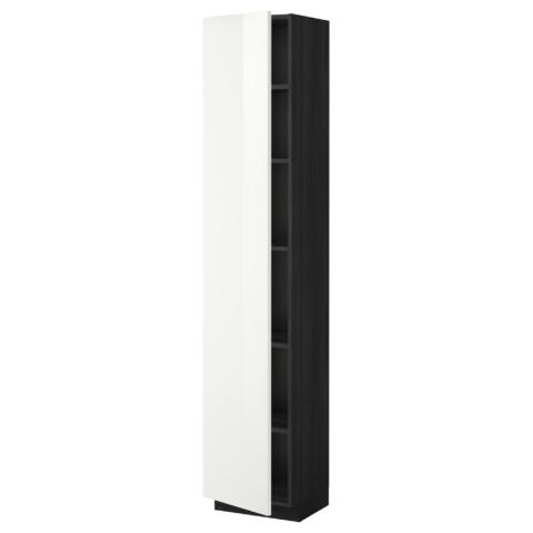 Высокий шкаф с полками МЕТОД черный артикуль № 999.212.21 в наличии. Интернет сайт IKEA РБ. Недорогая доставка и установка.