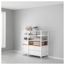 2 секции ЭЛВАРЛИ белый артикуль № 391.878.22 в наличии. Онлайн сайт IKEA РБ. Быстрая доставка и монтаж.