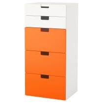 Комбинация для хранения с ящиками СТУВА оранжевый артикуль № 491.687.81 в наличии. Интернет магазин IKEA Минск. Недорогая доставка и монтаж.