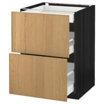 Напольный шкаф, 2 фасада, 3 ящика МЕТОД / МАКСИМЕРА черный артикуль № 591.097.53 в наличии. Online магазин IKEA РБ. Быстрая доставка и соборка.