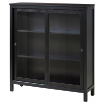 Шкаф-витрина ХЕМНЭС черно-коричневый артикуль № 803.632.09 в наличии. Интернет каталог IKEA РБ. Быстрая доставка и соборка.