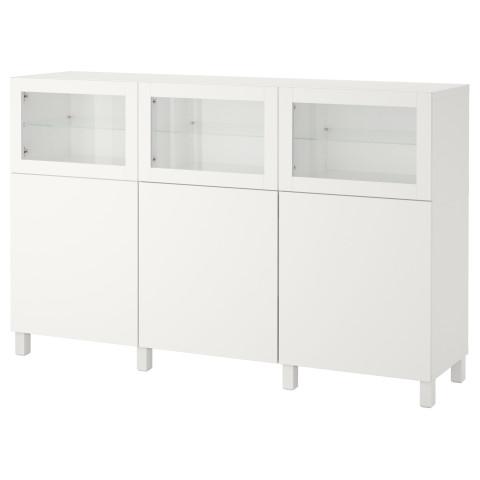 Комбинация для хранения с дверцами БЕСТО белый артикуль № 192.080.38 в наличии. Online каталог IKEA РБ. Быстрая доставка и установка.