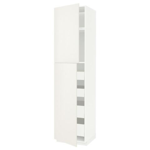 Высокий шкаф/2дверцы/4ящика МЕТОД / МАКСИМЕРА белый артикуль № 591.691.53 в наличии. Интернет каталог IKEA РБ. Недорогая доставка и соборка.