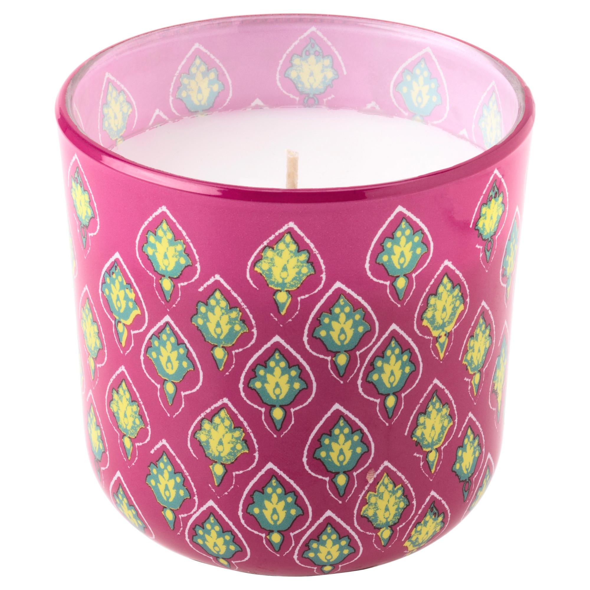 Ароматическая свеча в стакане СОММАР 2017 розовый артикуль № 703.345.47 в наличии. Интернет магазин IKEA Минск. Недорогая доставка и установка.