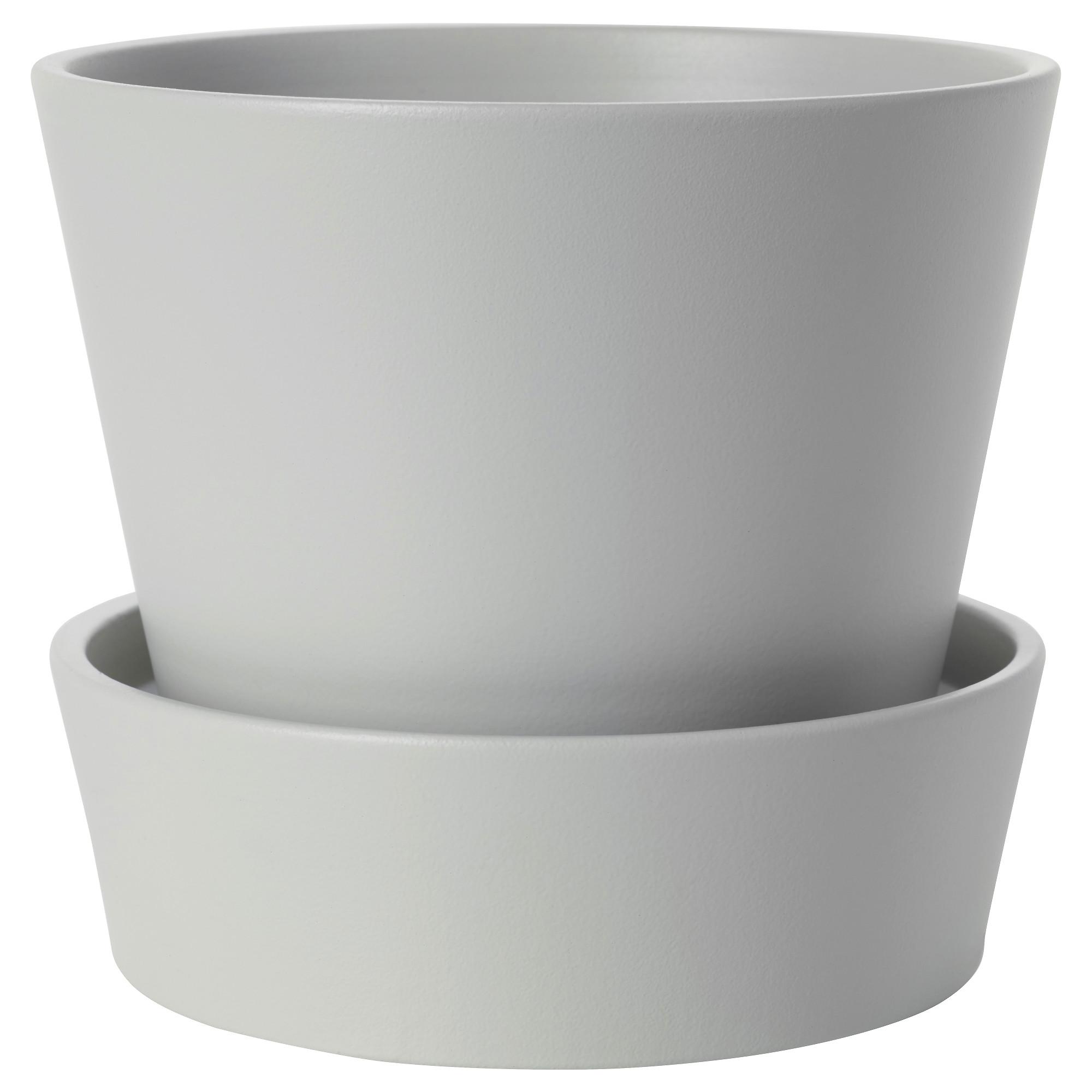 Горшок цветочный с поддоном СЕНАП серый артикуль № 503.432.46 в наличии. Онлайн сайт IKEA Беларусь. Недорогая доставка и соборка.