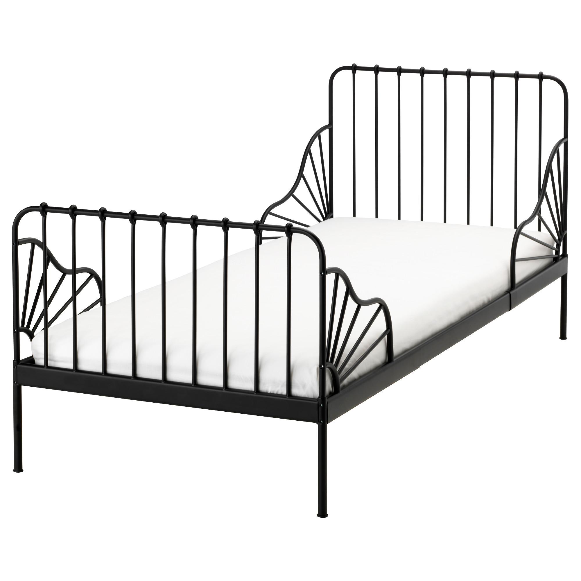 Каркас раздвижной кровати + реечное днище МИННЕН черный артикуль № 391.246.22 в наличии. Интернет сайт IKEA РБ. Недорогая доставка и установка.