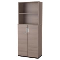 Комбинация для хранения с дверцами ГАЛАНТ серый артикуль № 391.844.18 в наличии. Онлайн магазин IKEA Минск. Быстрая доставка и монтаж.