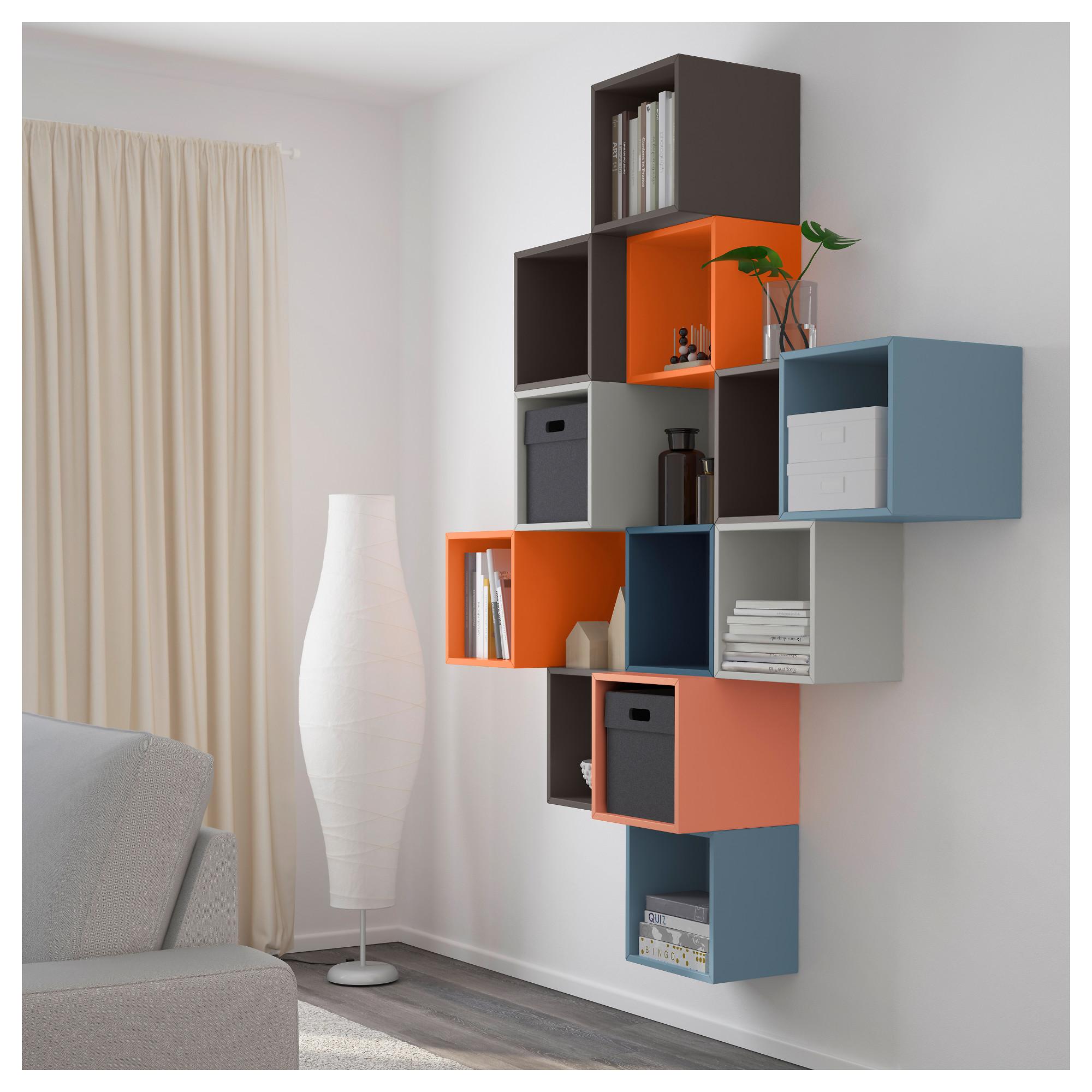 Купить комбинация настенных шкафов экет, разноцветный в икеа.