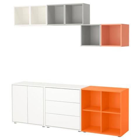 Комбинация шкафов с ножками ЭКЕТ разноцветный артикуль № 391.910.32 в наличии. Интернет магазин IKEA Минск. Недорогая доставка и соборка.