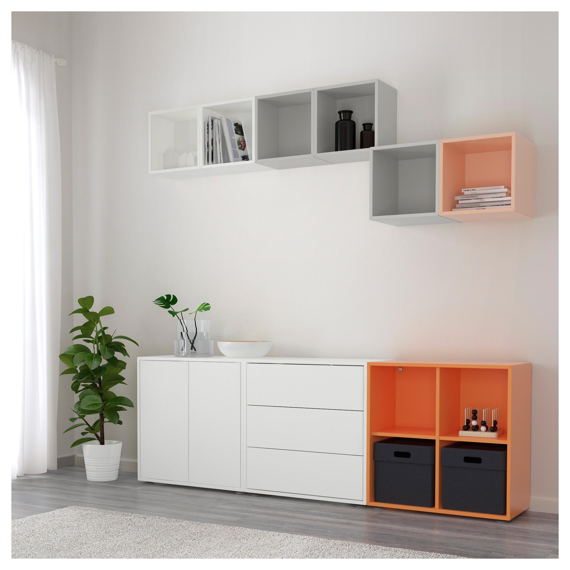 Купить комбинация шкафов с ножками экет, разноцветный в ikea.