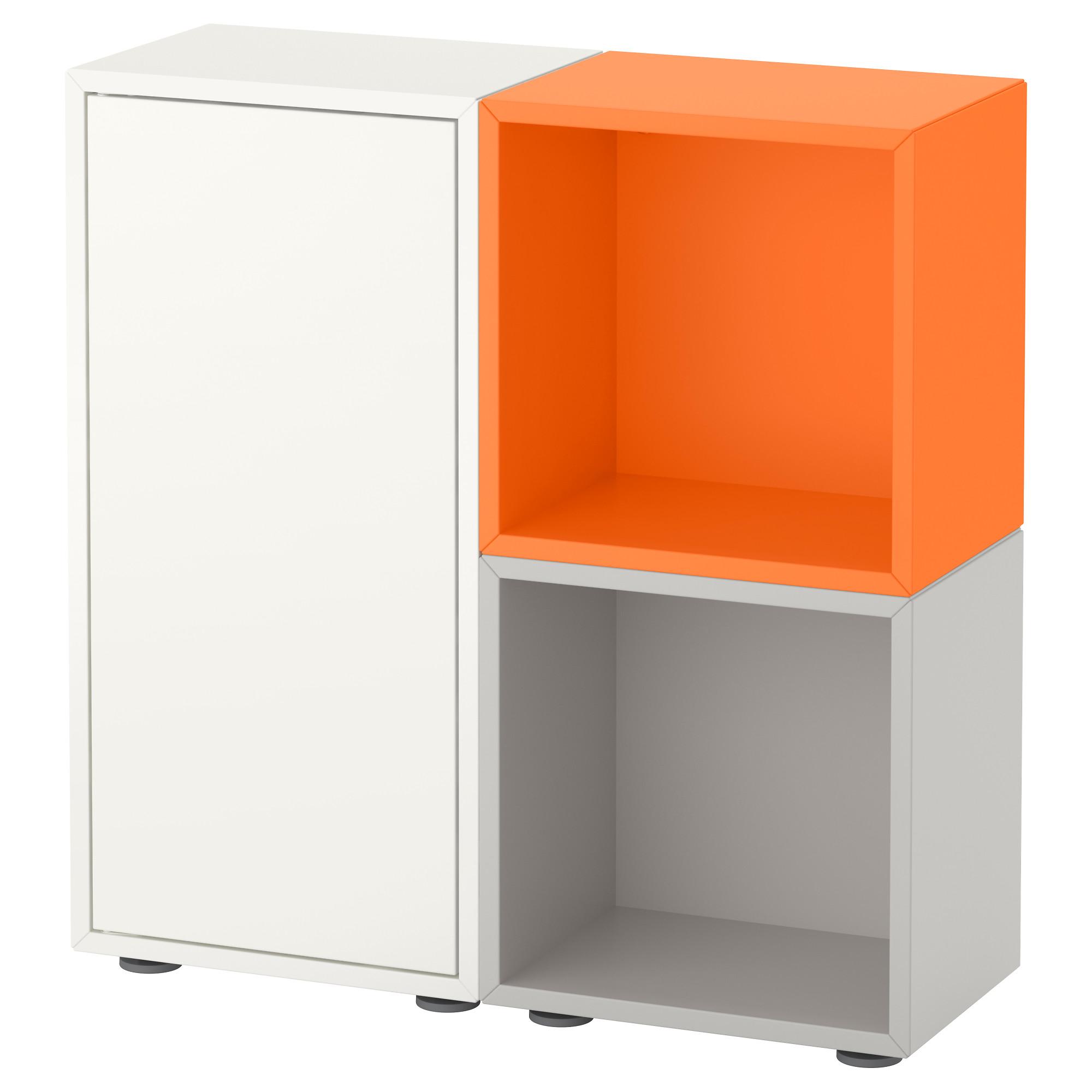 Купить комбинация шкафов с ножками экет, белый/оранжевый, св.