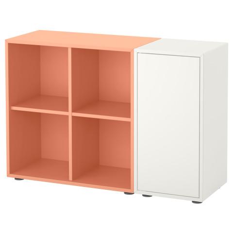 Купить комбинация шкафов с ножками экет, белый, светло-оранж.