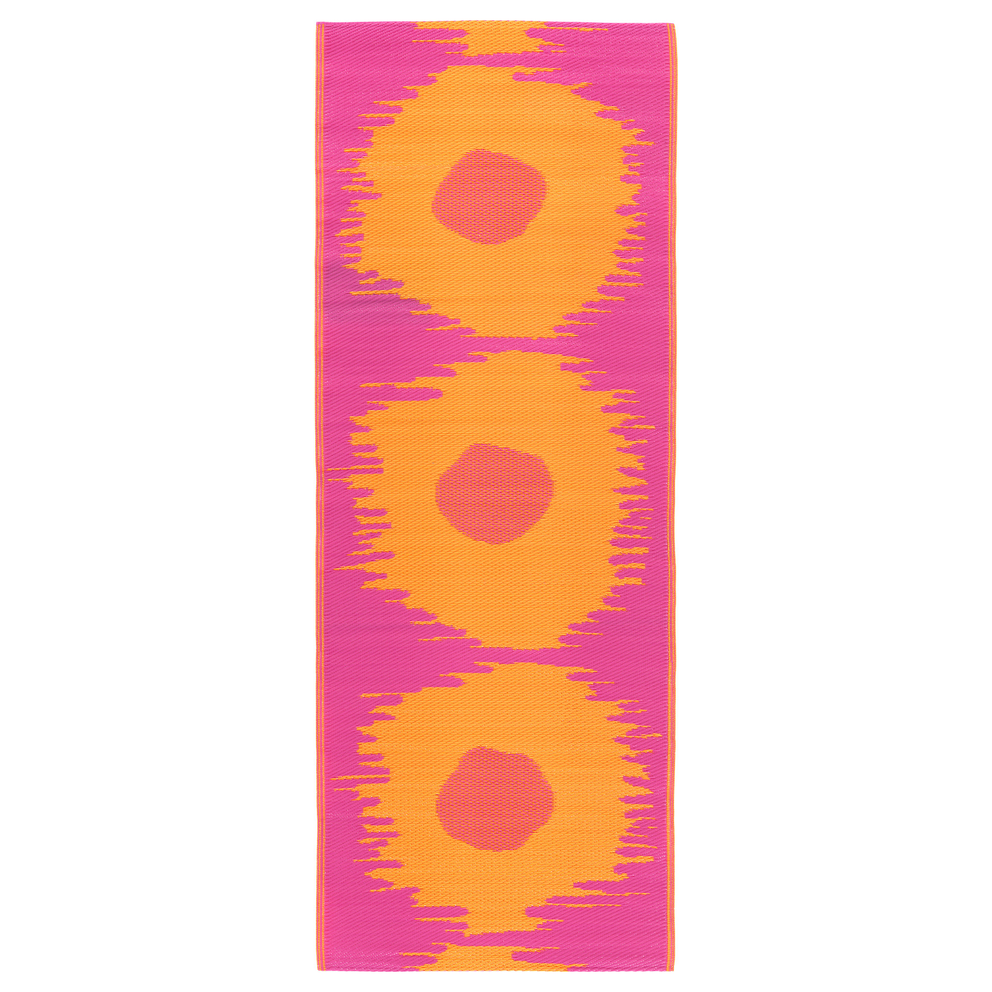 Ковер, безворсовый СОММАР 2017, д/дома/улицы розовый, оранжевый (75×200 см)