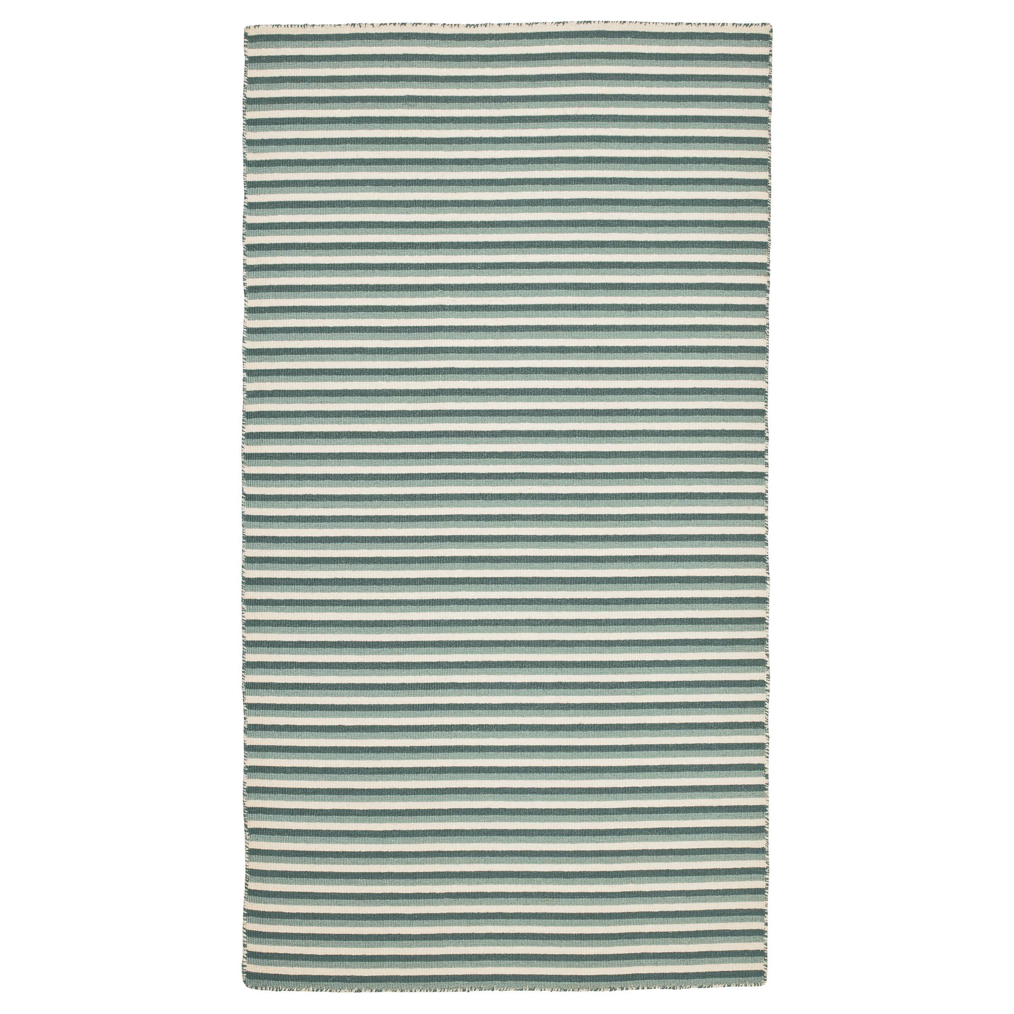 Ковер безворсовый ВЕСТБРИК, ручная работа, зеленый (80×150 см)