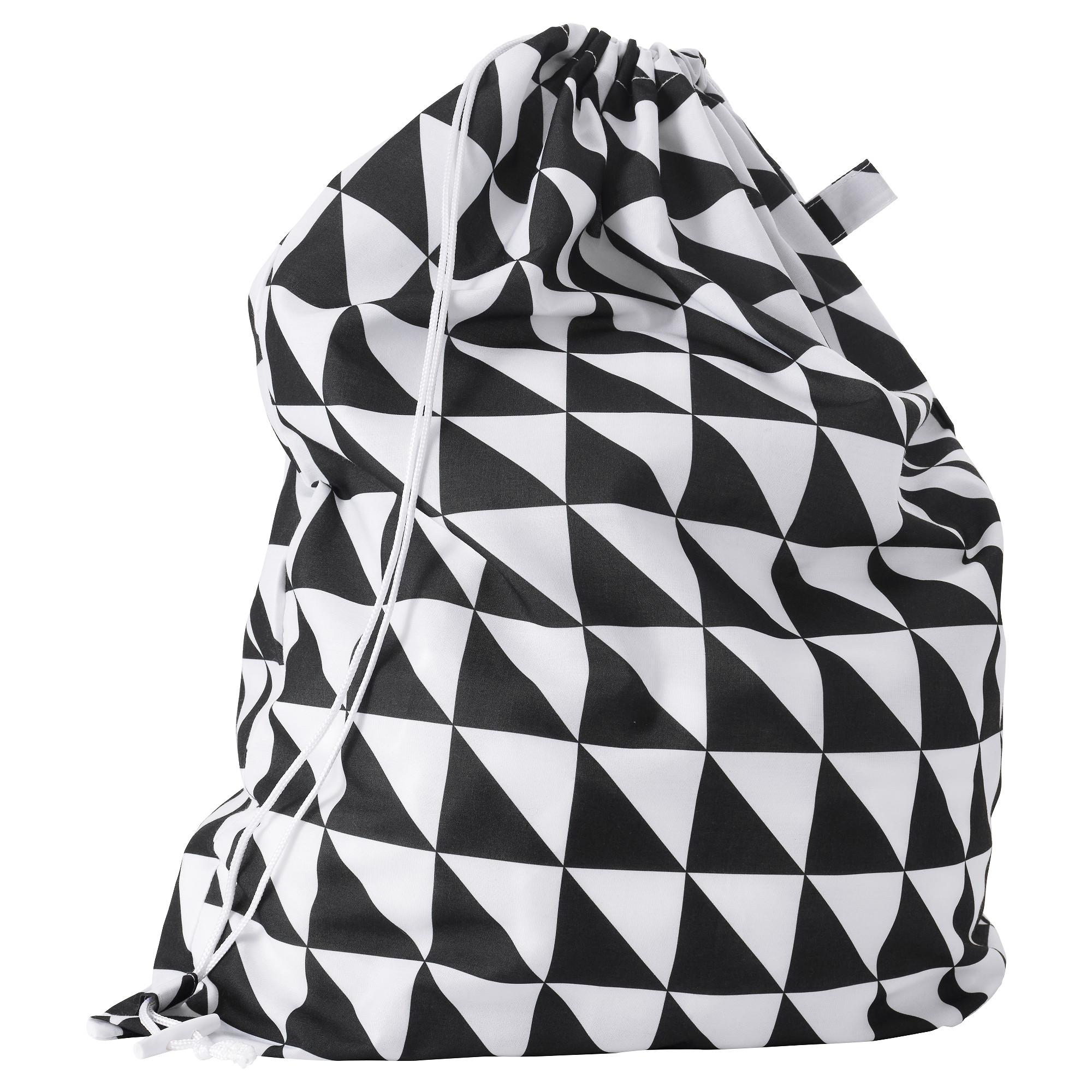 Мешок для белья СНАЙДА черный/белый артикуль № 503.299.43 в наличии. Online сайт IKEA Республика Беларусь. Быстрая доставка и установка.