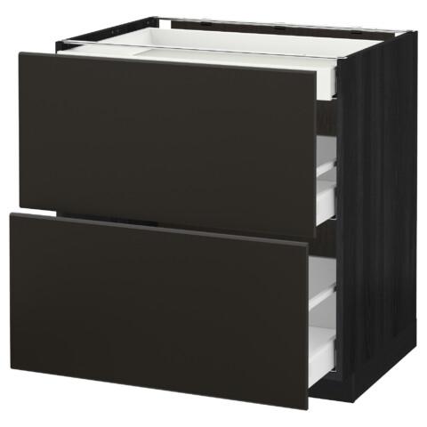 Напольный шкаф, 2 фасада, 3 ящика МЕТОД / МАКСИМЕРА черный артикуль № 492.205.81 в наличии. Онлайн сайт IKEA Беларусь. Недорогая доставка и установка.