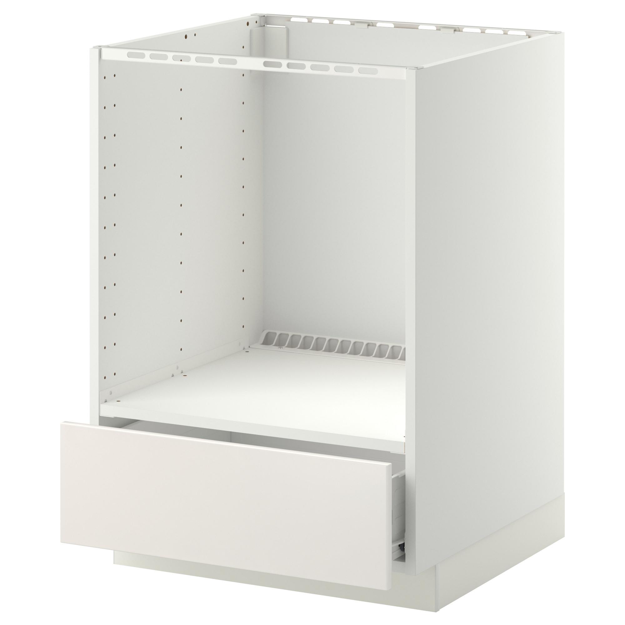Напольный шкаф для духовки, с ящиком МЕТОД / ФОРВАРА, белый, Веддинге белый (60×60 см)