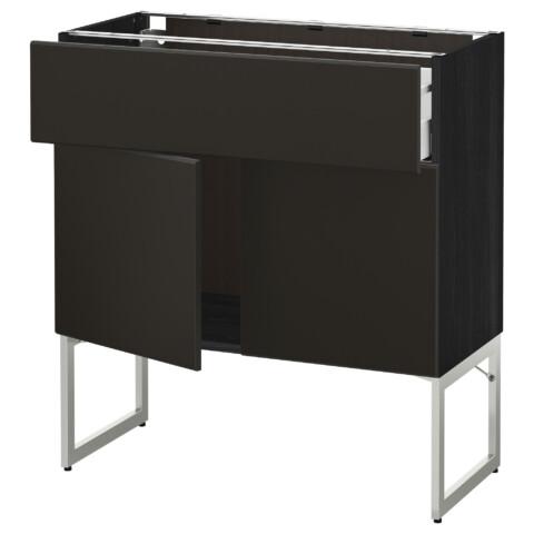 Напольный шкаф, полки, ящик, 2 двери МЕТОД / МАКСИМЕРА черный артикуль № 992.205.45 в наличии. Онлайн магазин IKEA РБ. Быстрая доставка и соборка.