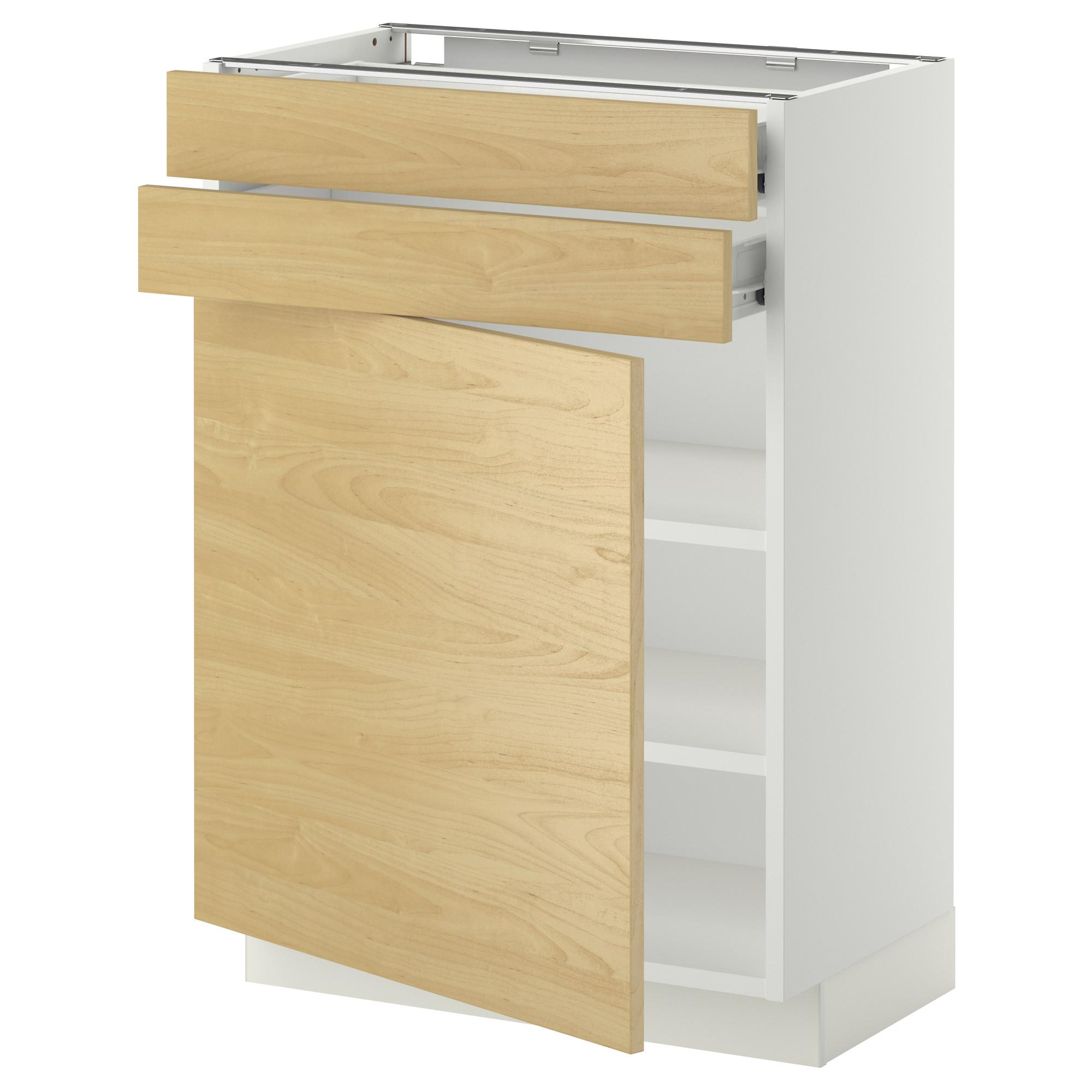 Напольный шкаф с дверцей, 2 ящиками МЕТОД / ФОРВАРА белый артикуль № 190.261.80 в наличии. Интернет каталог IKEA РБ. Недорогая доставка и установка.