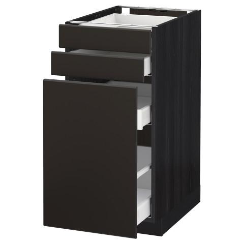 Напольный шкаф с выдвижными модулями, 2 фронтальные панели МЕТОД / МАКСИМЕРА черный артикуль № 392.206.14 в наличии. Онлайн каталог IKEA Беларусь. Быстрая доставка и соборка.