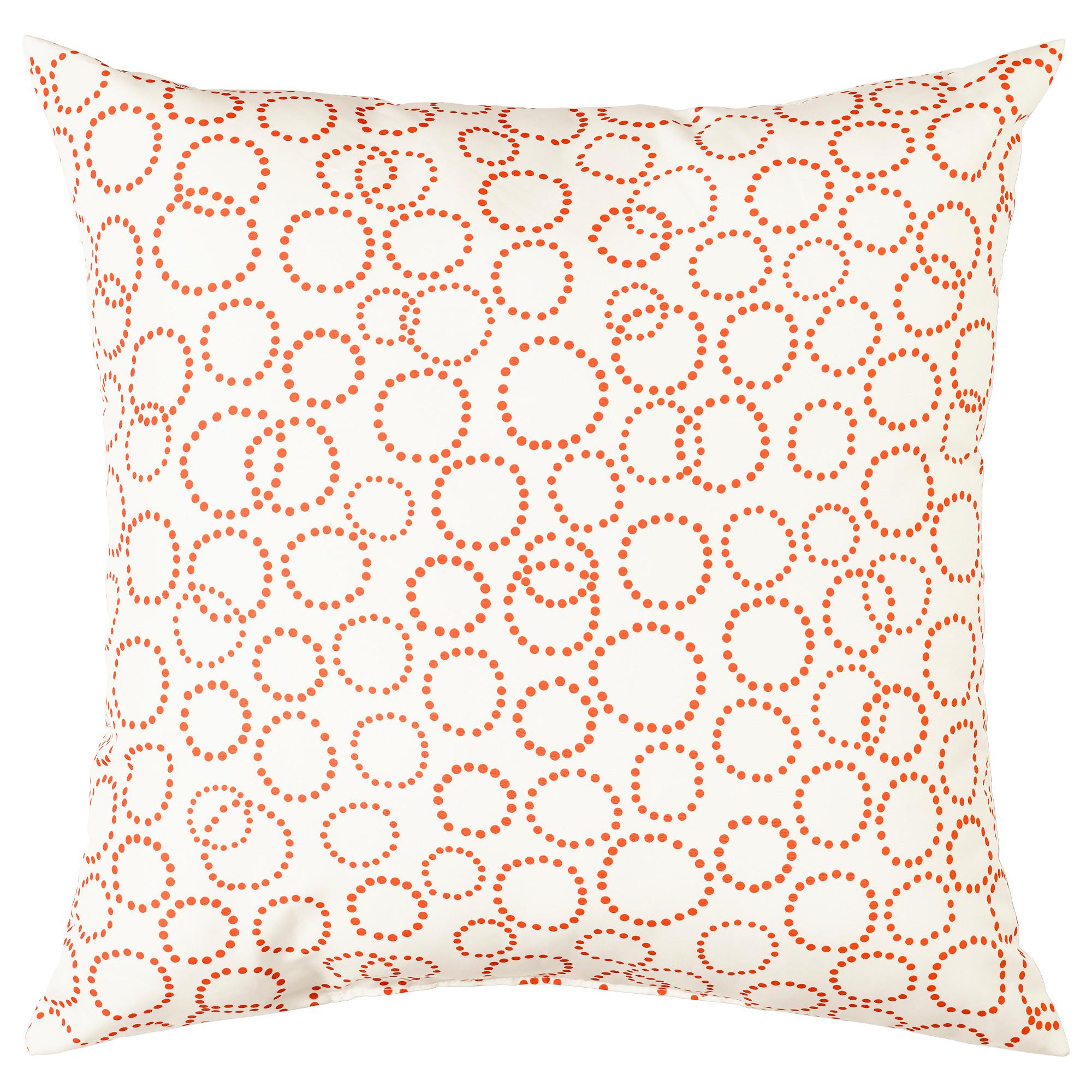 Подушка ТРЭДАСТЕР, белый, оранжевый (35×35 см)