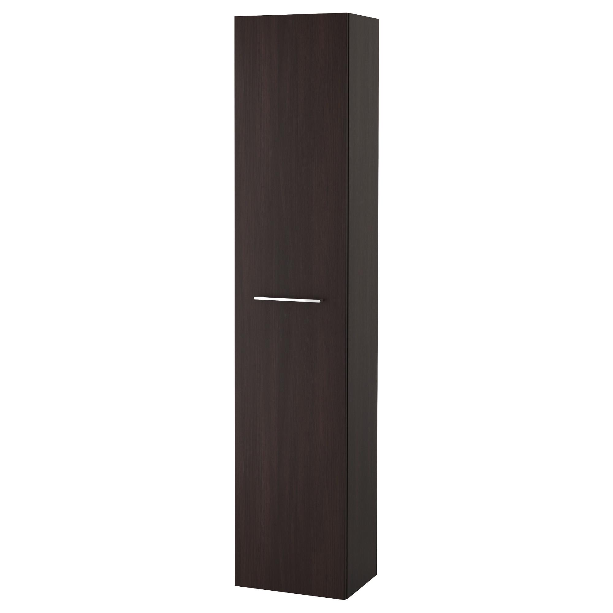 Шкаф высокий ГОДМОРГОН, черно-коричневый (40x32x192 см)