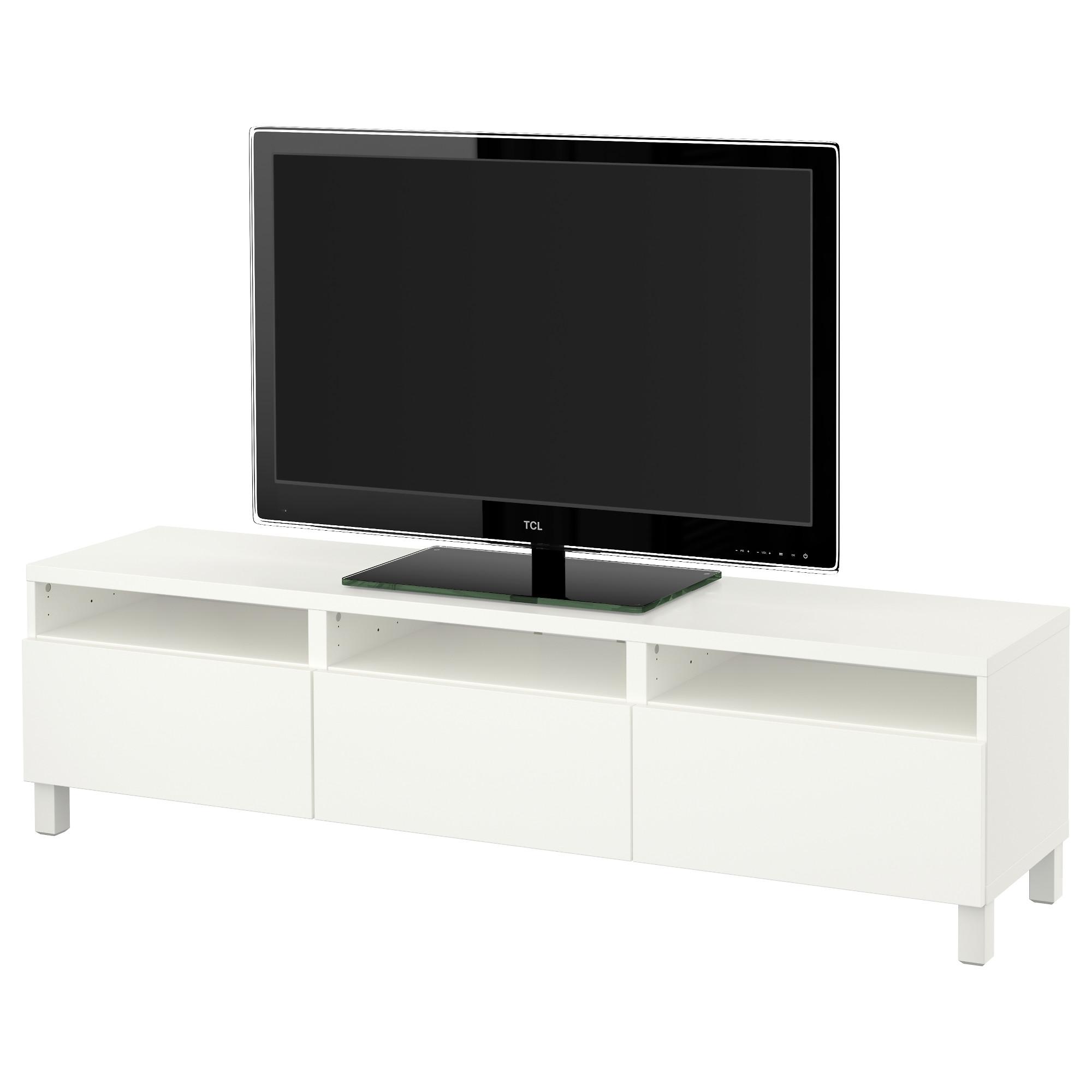 Тумба для ТВ с ящиками БЕСТО, Лаппвикен белый (180x40x48 см)