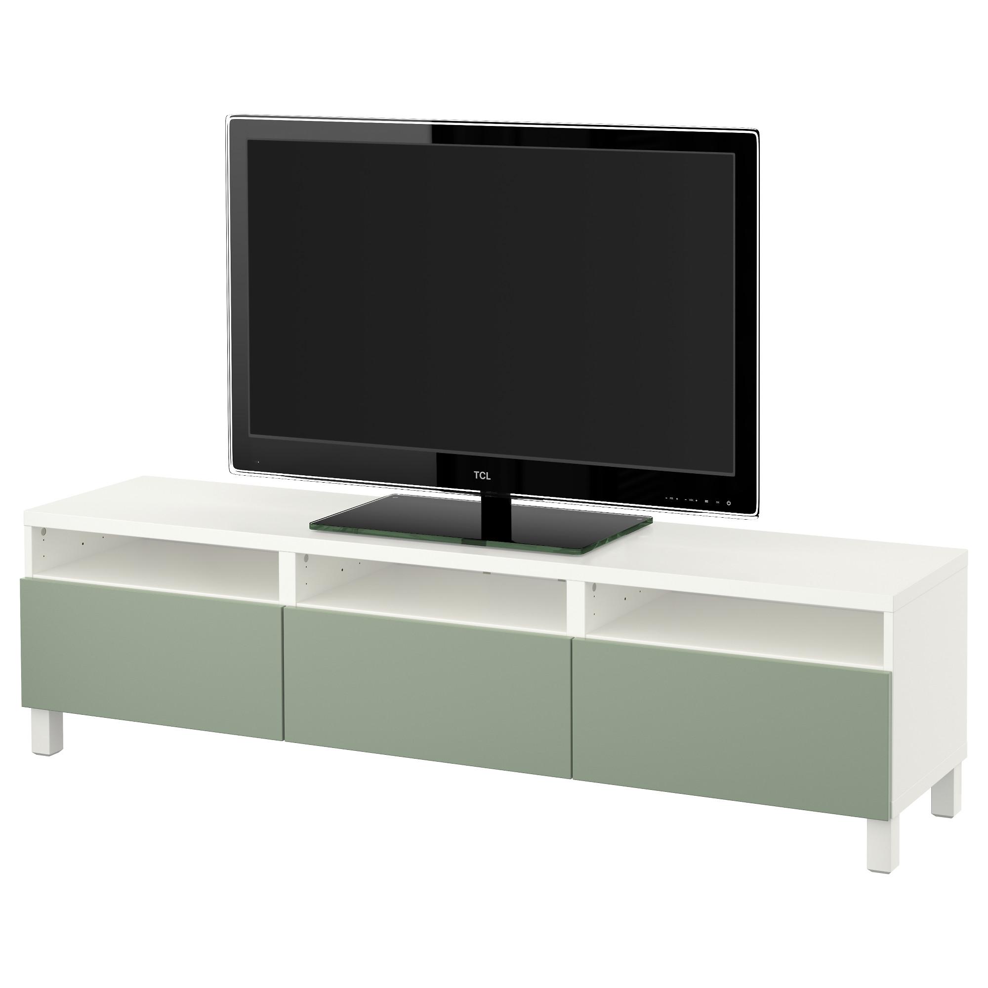 Тумба для ТВ с ящиками БЕСТО зеленый артикуль № 691.395.18 в наличии. Online каталог IKEA РБ. Быстрая доставка и соборка.