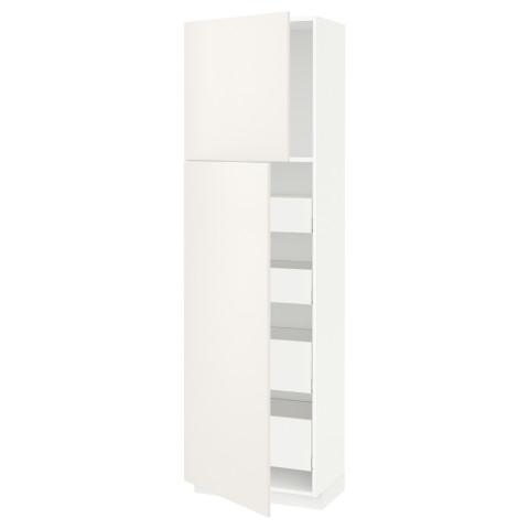 Высокий шкаф/2дверцы/4ящика МЕТОД / МАКСИМЕРА белый артикуль № 191.692.73 в наличии. Онлайн каталог IKEA Минск. Недорогая доставка и установка.