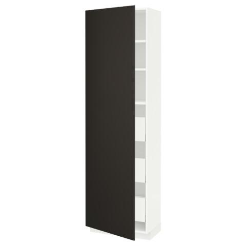 Высокий шкаф с ящиками МЕТОД / МАКСИМЕРА антрацит артикуль № 792.199.15 в наличии. Онлайн магазин IKEA РБ. Недорогая доставка и установка.