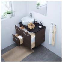 Шкаф для раковины с 2 ящиками ГОДМОРГОН артикуль № 303.498.43 в наличии. Интернет сайт IKEA РБ. Быстрая доставка и установка.