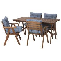 Стол + 4 кресла, для сада ФАЛЬХОЛЬМЕН синий артикуль № 192.178.63 в наличии. Интернет сайт ИКЕА РБ. Недорогая доставка и соборка.
