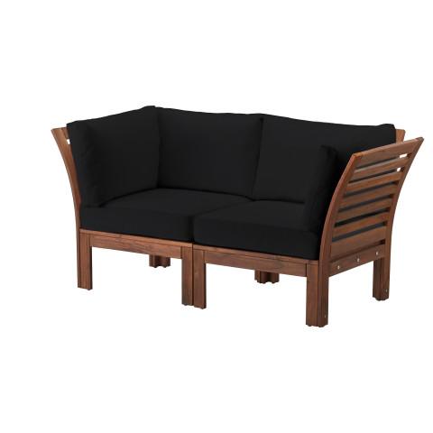 2-местный диван, садовый ЭПЛАРО / КУНГСЭ черный артикуль № 692.275.53 в наличии. Онлайн каталог IKEA Минск. Недорогая доставка и монтаж.
