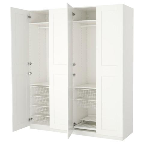 Гардероб ПАКС белый артикуль № 192.147.08 в наличии. Online сайт IKEA РБ. Недорогая доставка и установка.