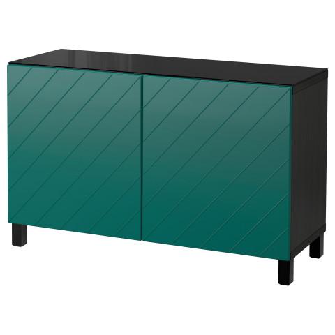 Комбинация для хранения с дверцами БЕСТО сине-зеленый артикуль № 692.101.09 в наличии. Интернет сайт IKEA Беларусь. Быстрая доставка и монтаж.