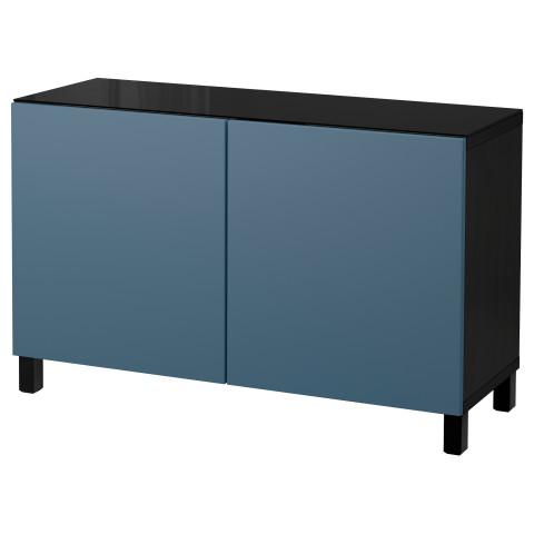 Комбинация для хранения с дверцами БЕСТО темно-синий артикуль № 692.101.33 в наличии. Online каталог IKEA РБ. Недорогая доставка и соборка.