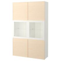 Комбинация для хранения со стеклянными дверцами БЕСТО белый артикуль № 392.055.19 в наличии. Онлайн каталог IKEA Минск. Быстрая доставка и монтаж.
