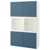 Комбинация для хранения со стеклянными дверцами БЕСТО артикуль № 392.064.96 в наличии. Online каталог IKEA Минск. Быстрая доставка и установка.