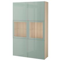Комбинация для хранения со стеклянными дверцами БЕСТО артикуль № 592.054.91 в наличии. Online сайт IKEA Минск. Недорогая доставка и установка.