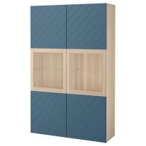 Комбинация для хранения со стеклянными дверцами БЕСТО темно-синий артикуль № 792.064.99 в наличии. Online сайт IKEA Беларусь. Недорогая доставка и монтаж.