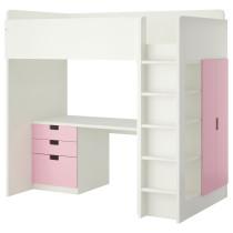 Кровать-чердак, 3 ящика, 2 дверцы СТУВА белый артикуль № 092.272.02 в наличии. Интернет сайт IKEA РБ. Быстрая доставка и соборка.